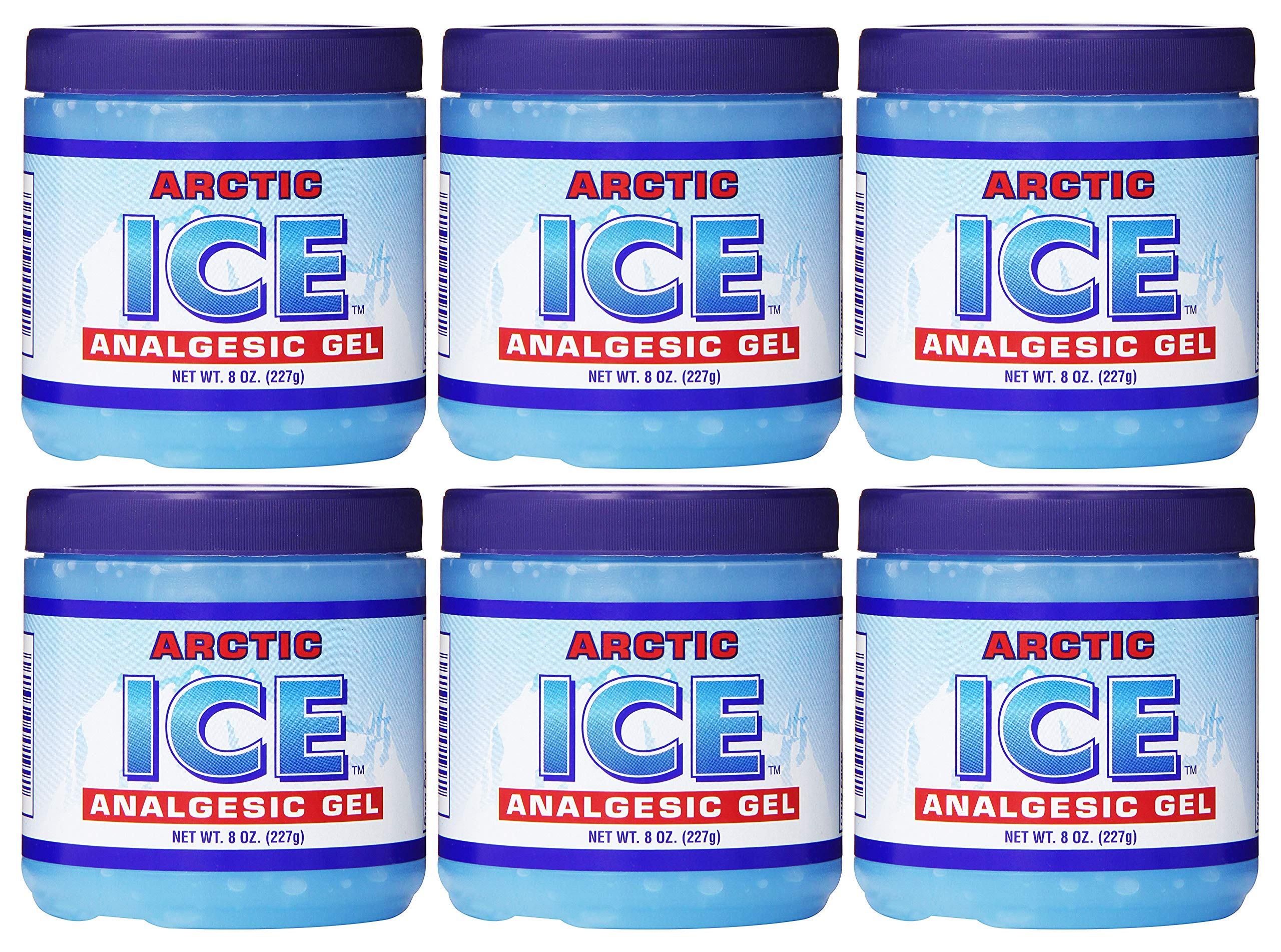 Set of 6 Pain Relief Analgesic Gels! Arctic Ice Pain Relief! 8oz Each! Stop Your Aches and Pains! Made in USA! (6)