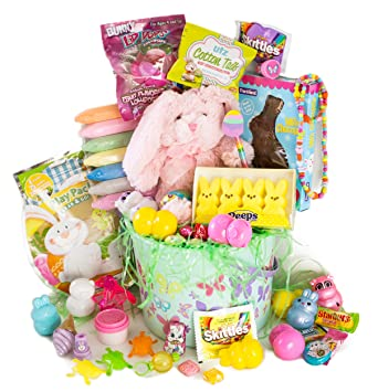 Amazon easter basket for girls 40 piece set filled with easter basket for girls 40 piece set filled with easter gifts of toys candy negle Images