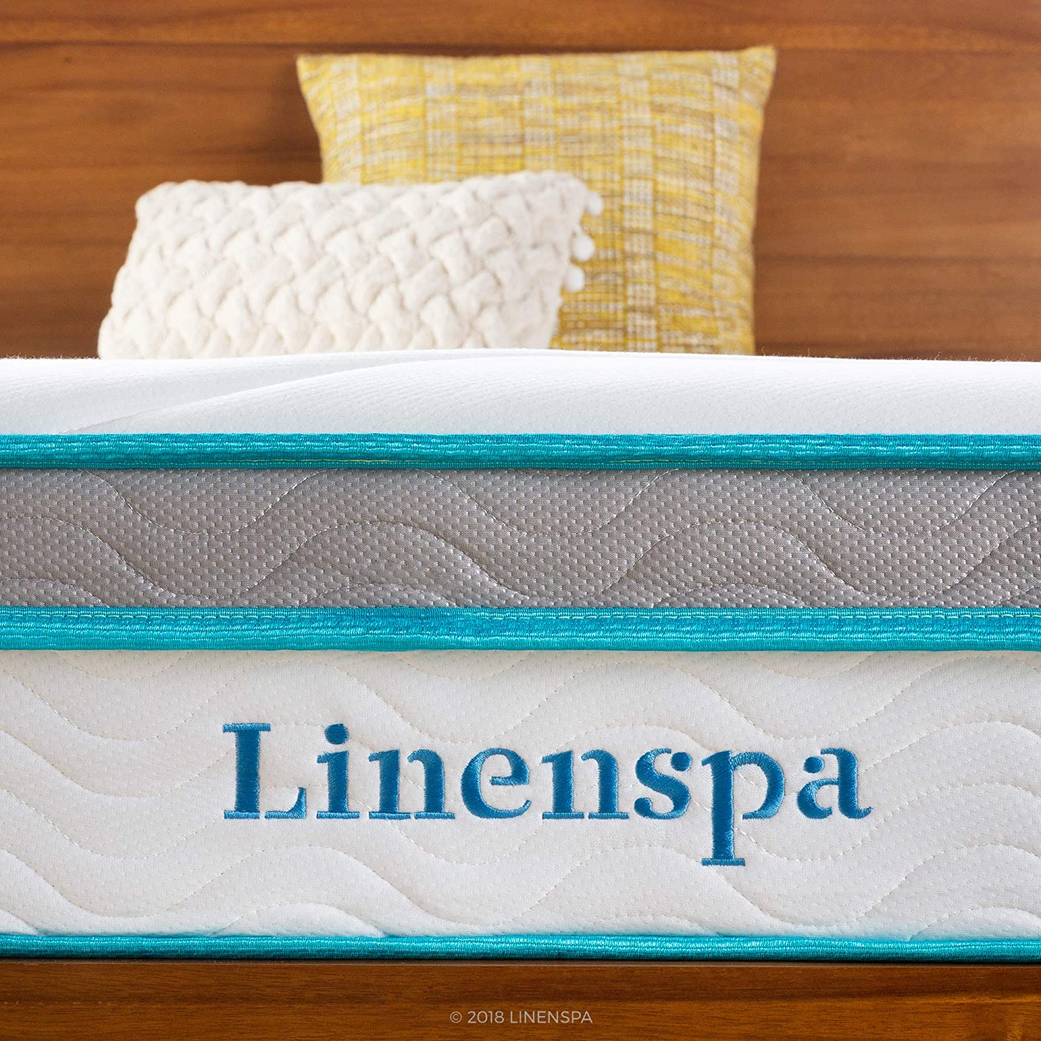 Linenspa 12 Inch Memory Hybrid Plush-Individually Encased Coils-Edge Support-Quilted Foam Cover Mattress, Full, White: Furniture & Decor
