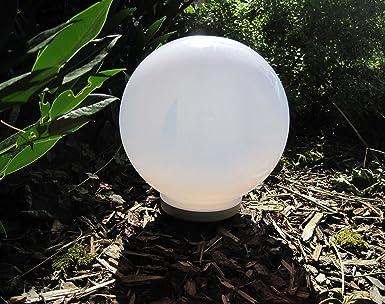 2 x 30 cm 1 x 25 cm set led solar palla sfera a energia solare