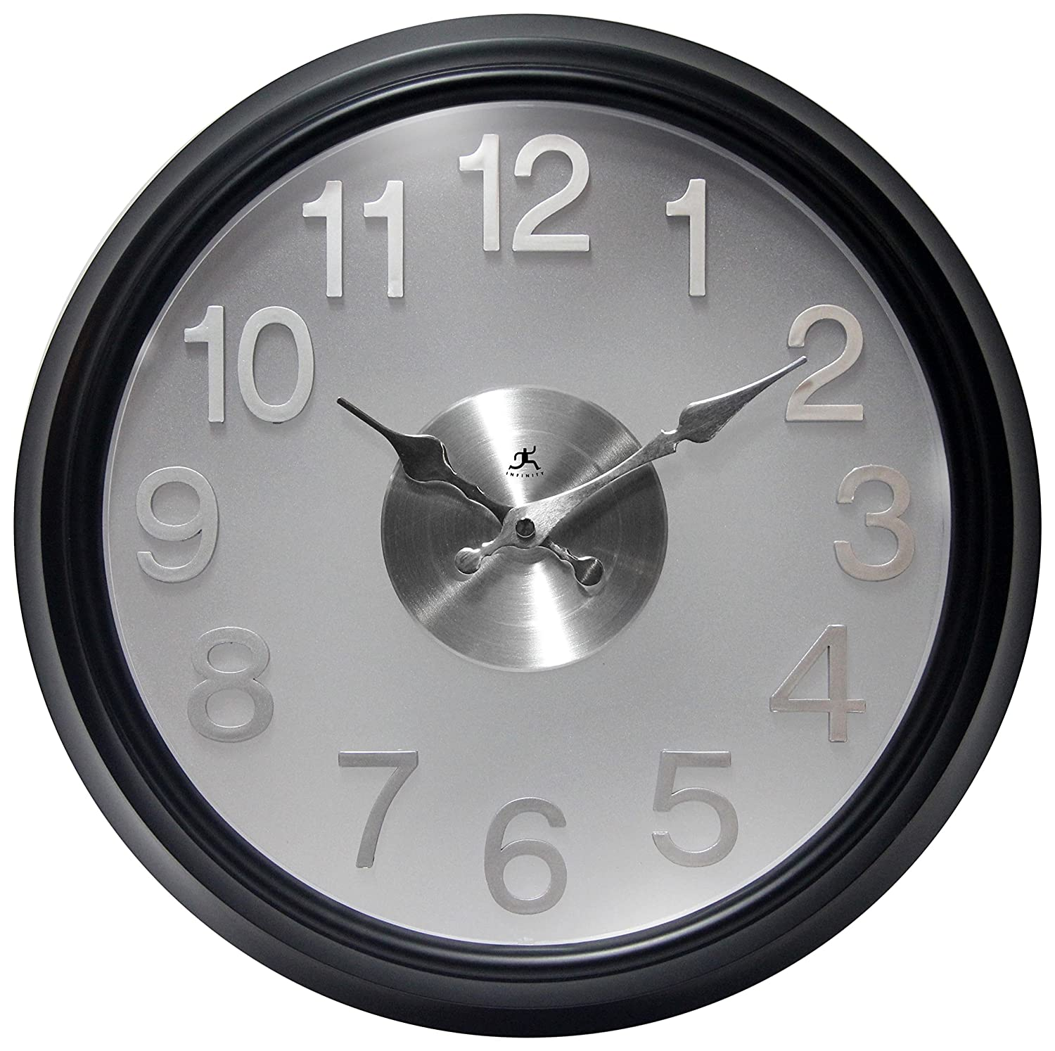 Infinity Instruments The Onyx Wall Clock 13314bk 2510 Home Décor Home Kitchen