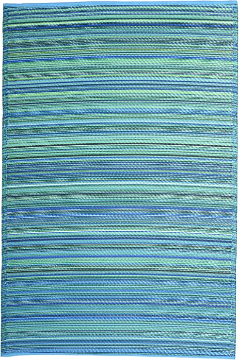 Tappetino verde da interni ed esterni Verde FabHabitat Cancun Turquoise /& Moss Green 90 cm x 150 cm