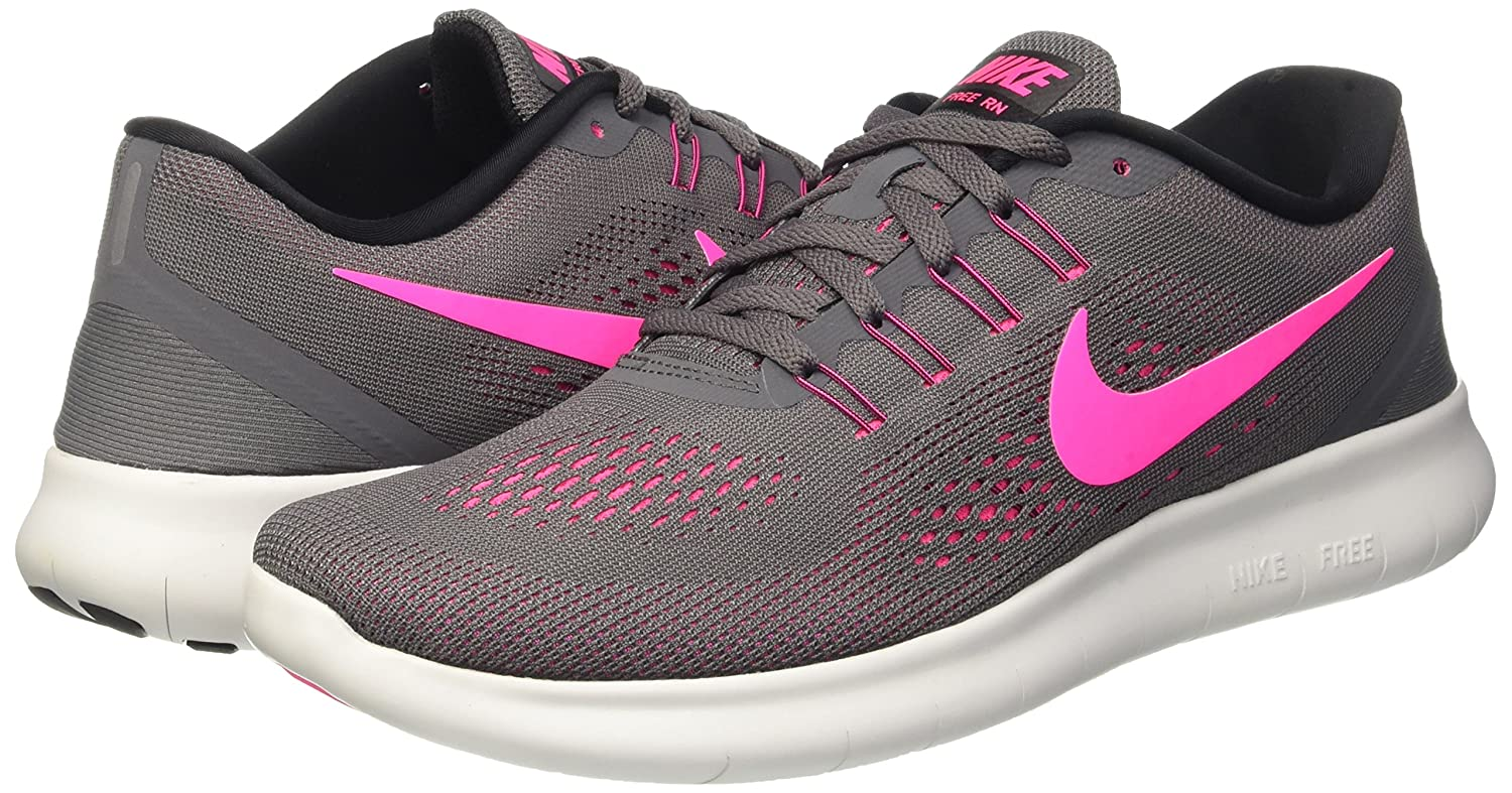 Amazon.com | Nike Womens Free RN Running Shoes Dark Grey/Pink Blast 831509-006 Size 7 | Road Running