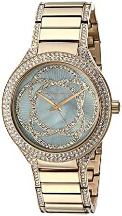 2a8ef6e73d2a Amazon.com  Michael Kors Women s Kerry Gold-Tone Watch MK3481 ...