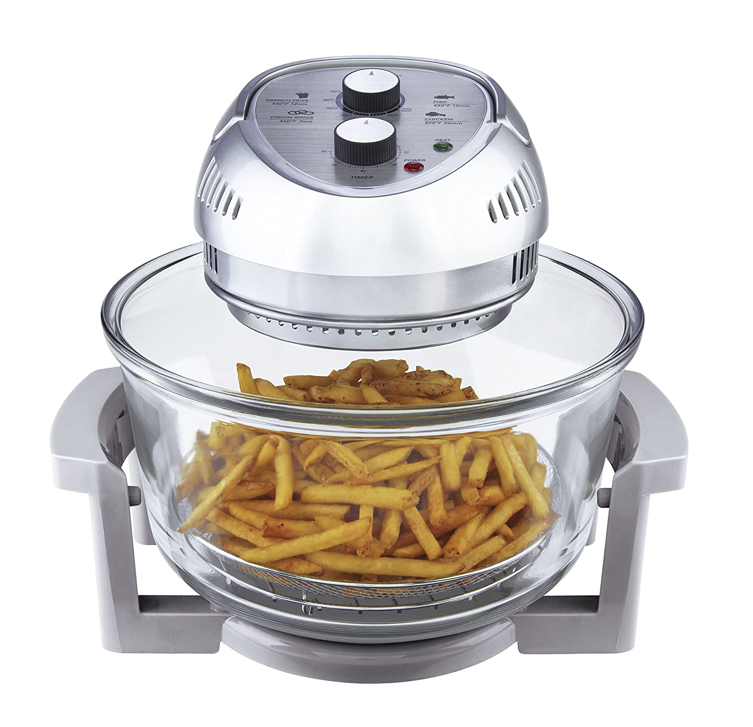 Amazon.com: Big Boss Oil Less Air Fryer, 16 Quart, 1300 Watt, Silver: Deep  Fryers: Kitchen U0026 Dining