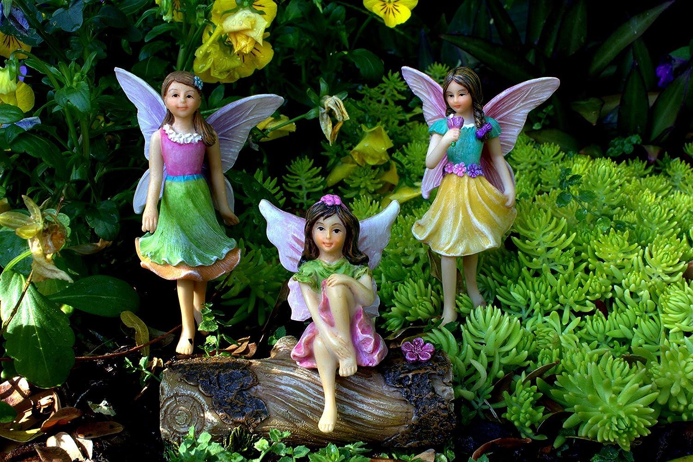 Kit with Miniature Accessories Fairy Garden Supplies 3 Garden Fairies Pretmanns Fairy Garden Fairies