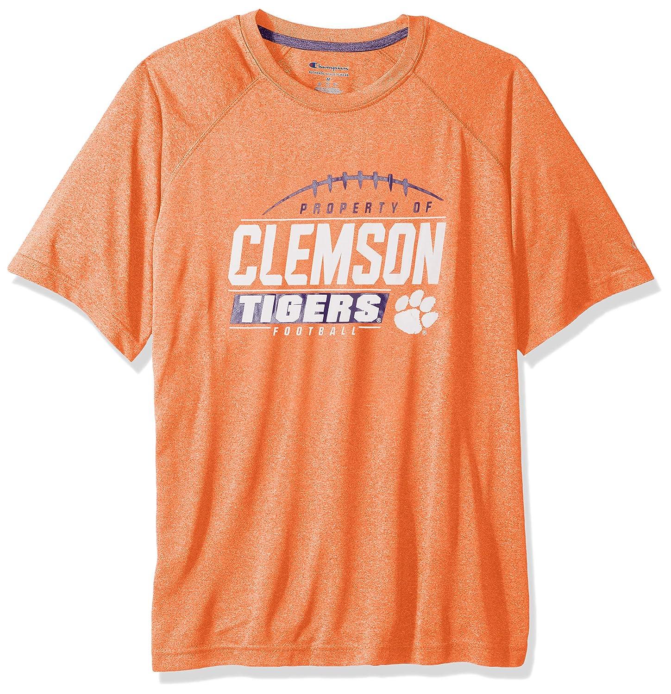 NCAA Clemson Tigers Mens NCAA Mens Short Sleeve Football Season Jersey Teechampion NCAA Mens Short Sleeve Football Season Jersey Tee Knights Orange Medium