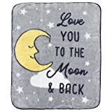 Hudson Baby High Pile Blanket, Moon, One Size