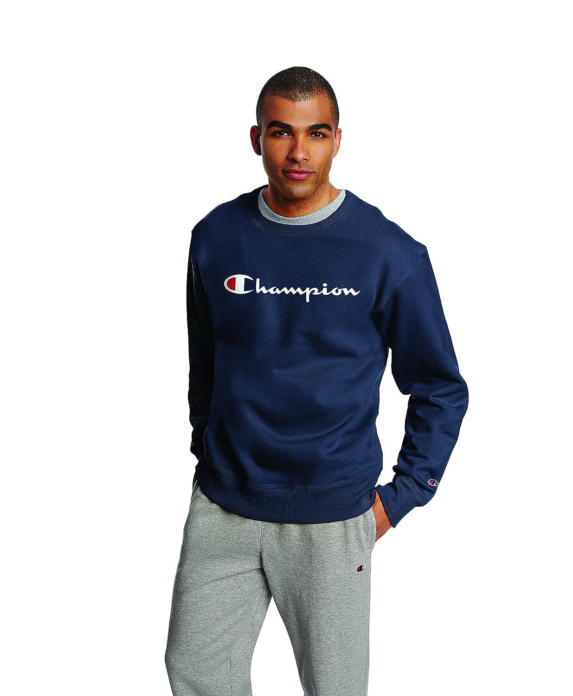 Champion Men's Graphic Powerblend Fleece Crew GF88H