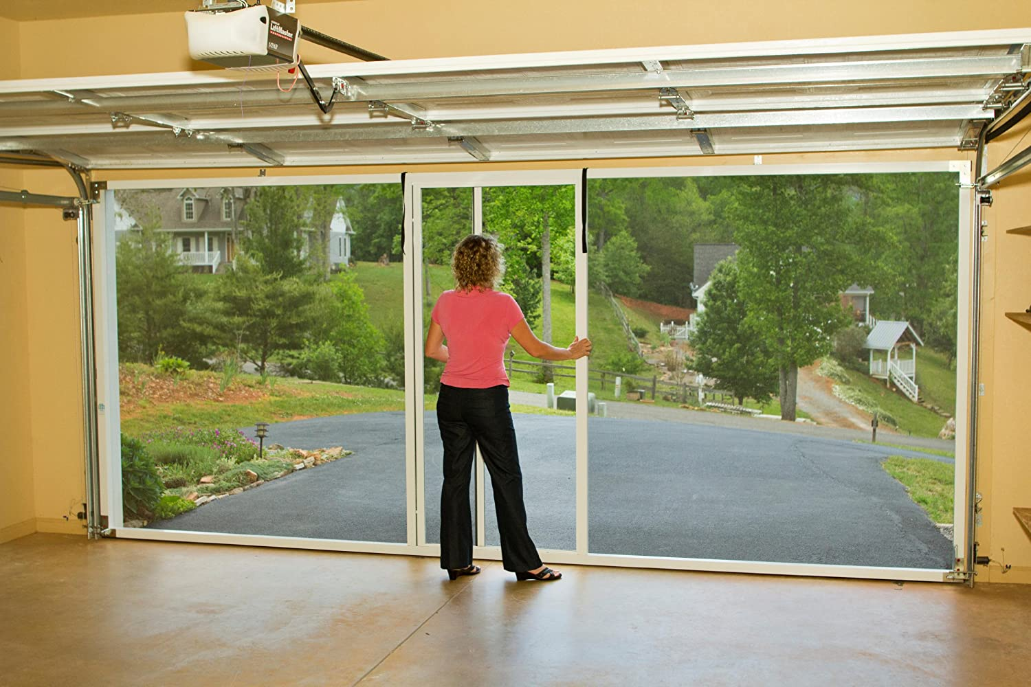 garage door screens retractableAmazoncom  Lifestyle Screens garage door screen 7H White