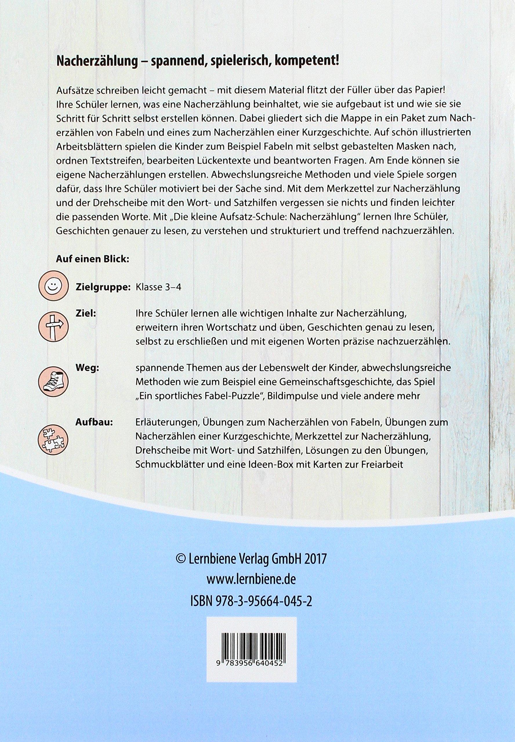 Die Kleine Aufsatz Schule Nacherzählung Pr Grundschule Deutsch