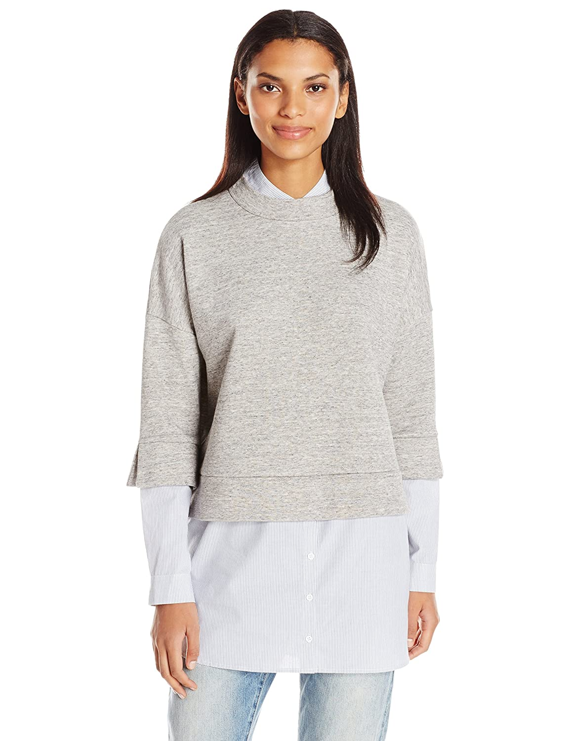 French Connection Women's Dune Mix Sweat Top 77HAD