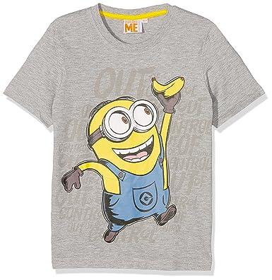 ae4786f84 Minions Despicable Me Chicos Camiseta Manga Corta - Gris  Amazon.es  Ropa y  accesorios