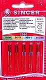 Singer 10 Original Nähmaschinen Nadeln Sortiment 2020 Stärke 70/09 80/11 90/14 100/16 für gewebte Stoffe