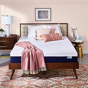 Sleep Innovations Shiloh Medium Firm Memory Foam Mattress, Queen, 12 Inches