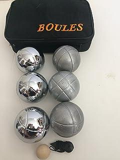 Amazon.com: 73 mm metal Juego de petanca con 6 bolas de ...