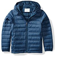 Boys Light-Weight Water-Resistant Packable Hooded Puffer Jackets Coats