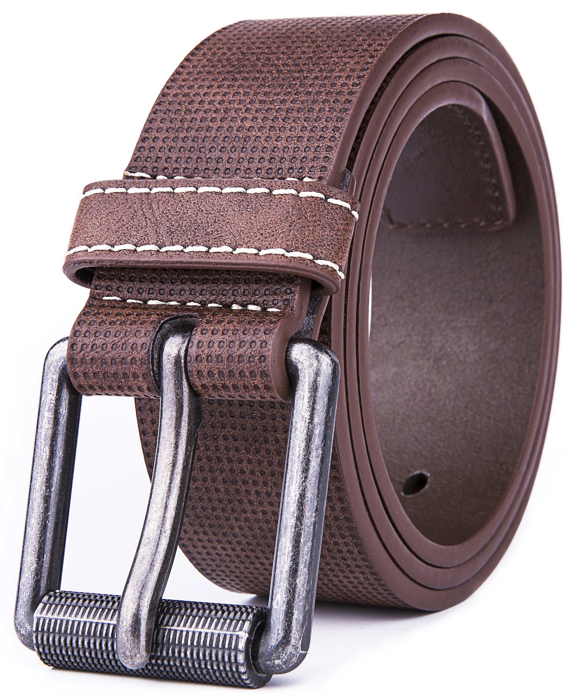 Belt for men, Fashion and Classic Leather belt for Jeans and Work Business - Big Sale New Belts (32, 1 D Brown)