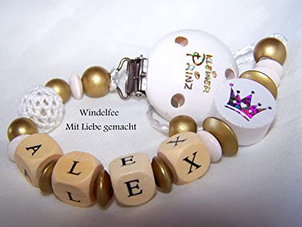 Cadena para chupete con nombres, diseño de El Principito ...