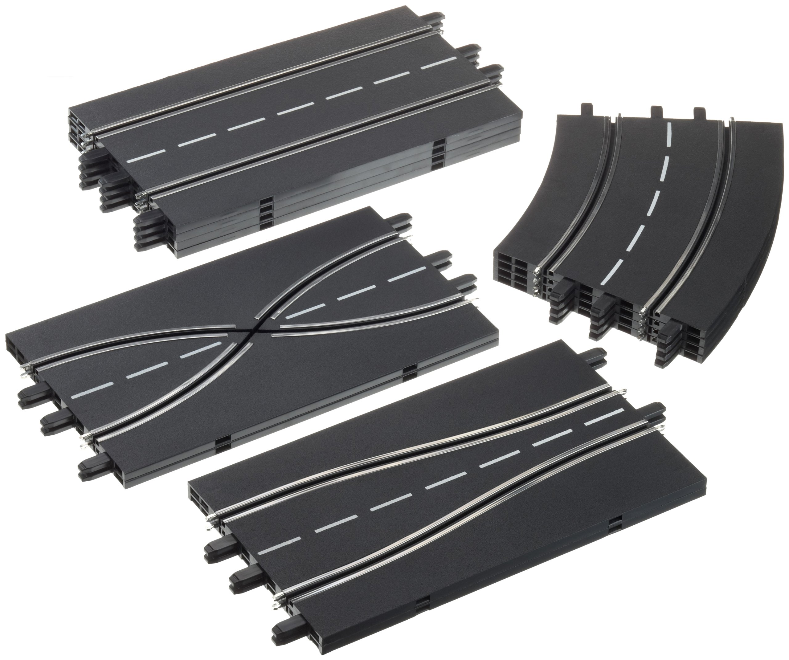 Carrera 1:24 Scale Track Extension Set - Accessory Pack includes 12 Pieces - For Use With Digital 124, 132 and Evolution Carrera Slot Car Racetrack Systems