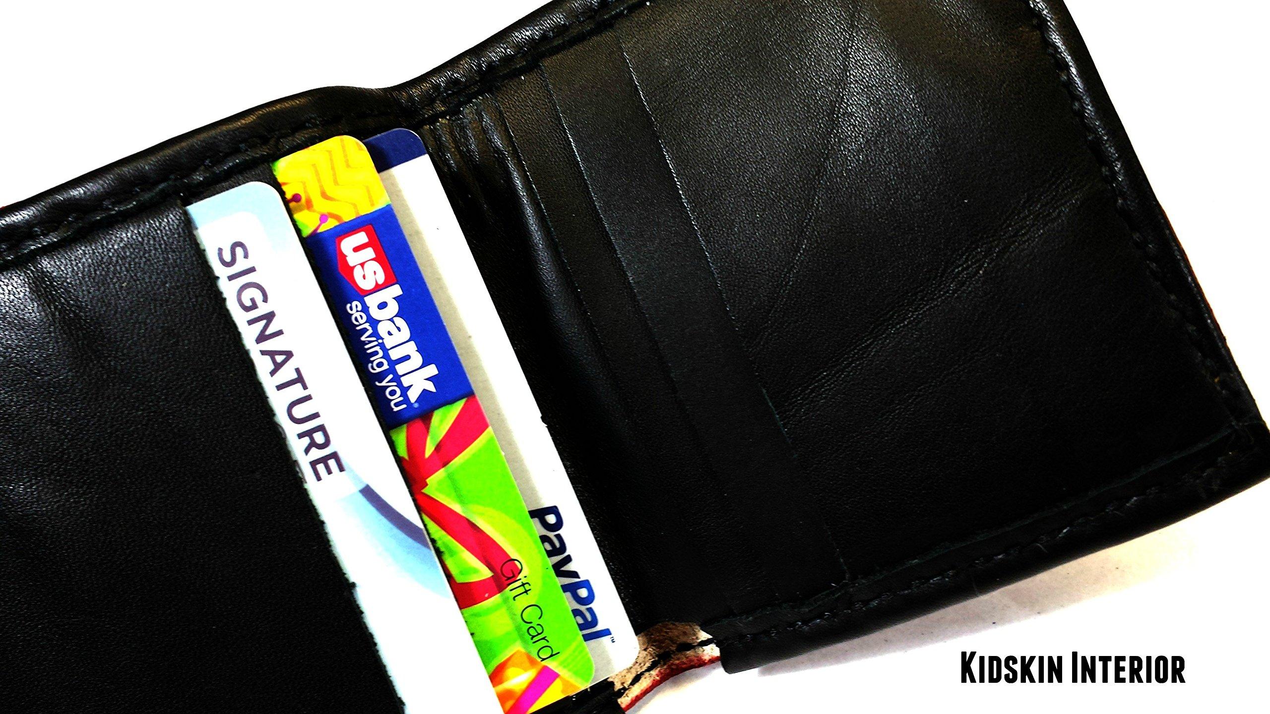 Handmade Leather Ajani Goldmane Wallet from Magic the Gathering (MTG)