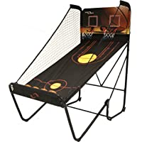 """Sport Squad Jump Shot Pro - Easy Fold Indoor Electronic Basketball Arcade Game with Multi-Game Modes for Two Players - Basketball Game for Kids and Adults - Includes Four 7"""" Basketballs and Air Pump"""