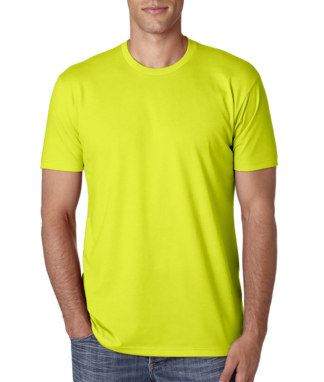 Next Level Apparel メンズ CVC クルーネック ジャージ Tシャツ B014WDCKJO XL|ネオンイエロー ネオンイエロー XL