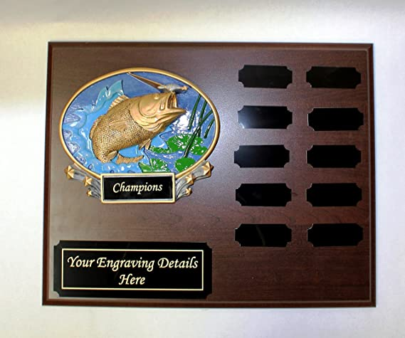 "ORVIS Record Catch Club Fishing Cast Aluminum Metal Plaque Unpainted 7"""