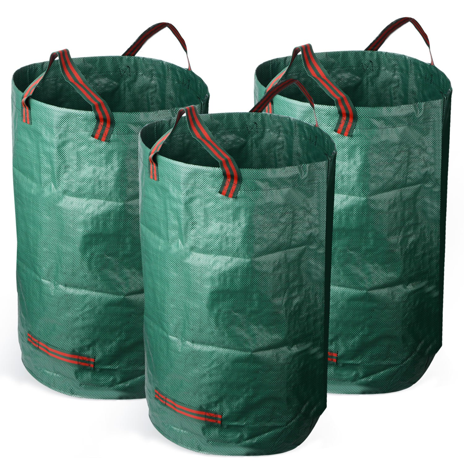 ASSR 32 Gallons Garden Waste Bag, Reusable Yard Bags Gardening Lawn Leaf Bags (3 Pack) by ASSR