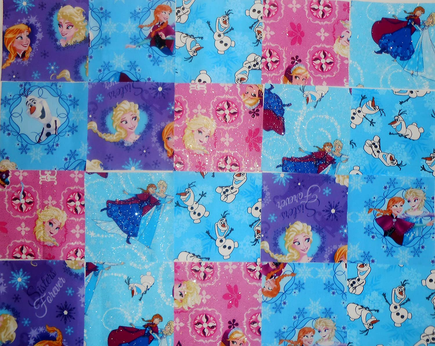 40 5 Frozen by Disney quilting squares Charm Pack Spring Industries