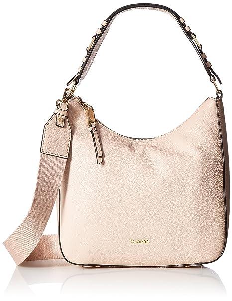 e52eeb16f2 Calvin Klein womens Calvin Klein Angelina Pebble Leather Hobo ...