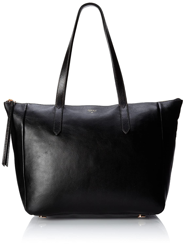 ec39ebb22eb1 Fossil Sydney Shopper Women s Handbag (Black) (ZB5764001)  Amazon.in  Shoes    Handbags