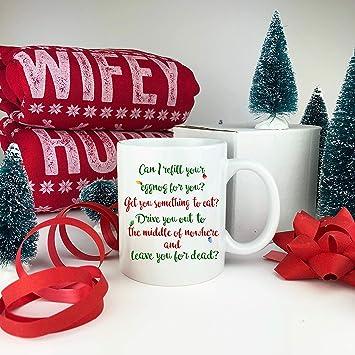 Amazon Funny Christmas Mug Can I Refill Your Eggnog For You
