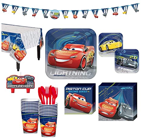 Amazon Cars 3 Birthday Party Kit Includes Happy