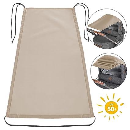 Zamboo Toldo / Protección solar universal para cochecitos, capazos y sillas de paseo | Parasol flexible con protección UV 50+ y función de persiana ...