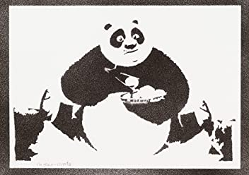 Póster Kung Fu Panda Grafiti Hecho A Mano - Handmade Street Art - Artwork