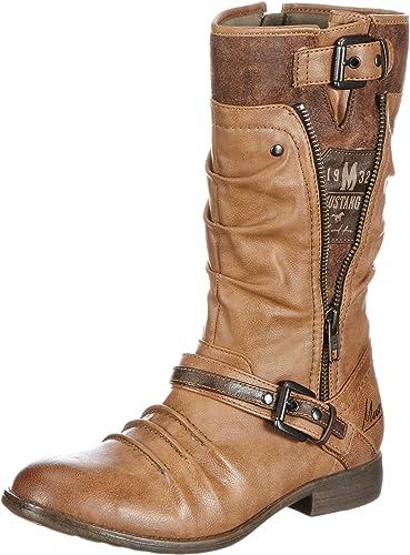 Mustang Stiefel, Bottes & Bottines Femme Marron Braun