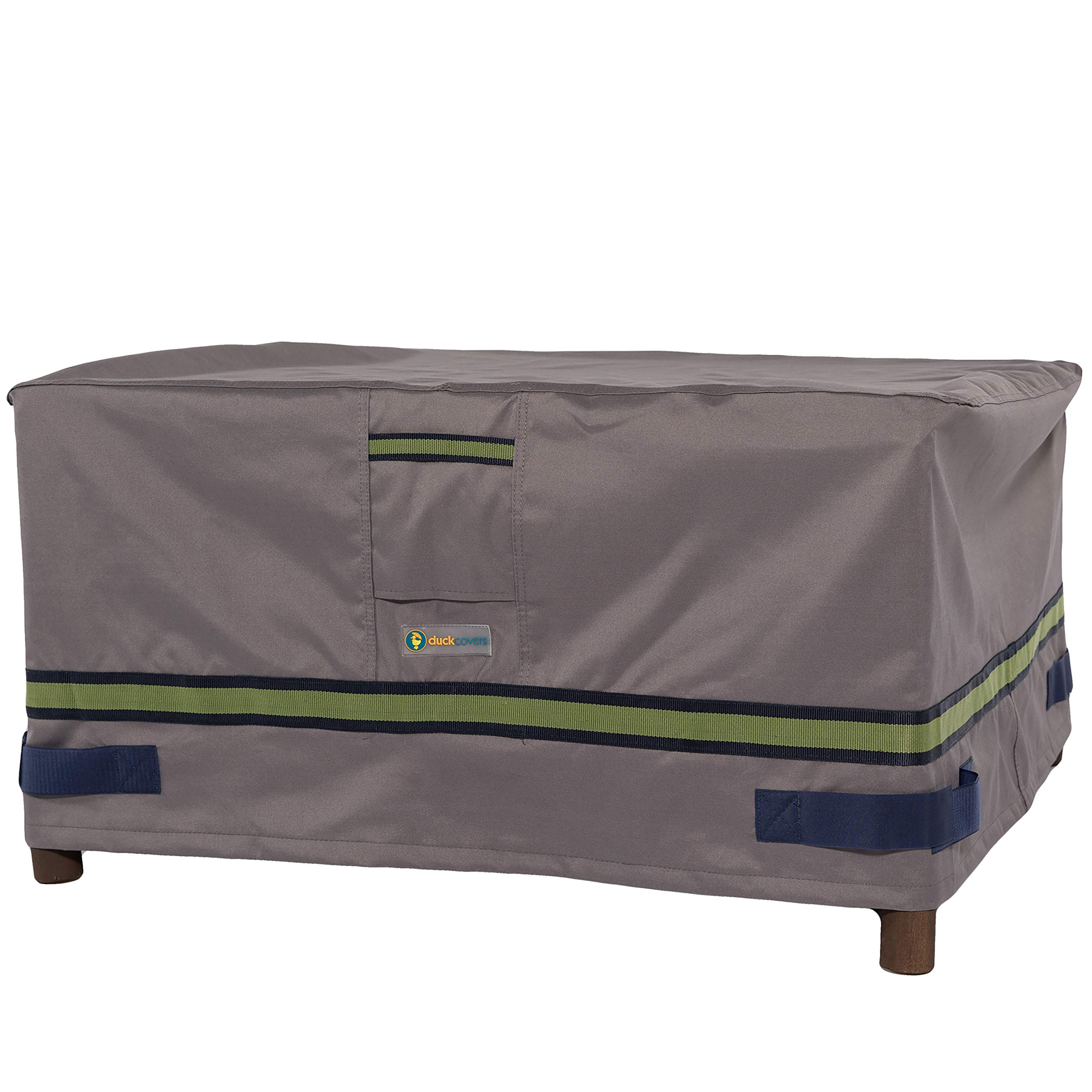 Duck Covers Soteria Rainproof 52'' Rectangular Patio Ottoman/Side Table Cover by Duck Covers