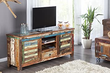 Dunord Design Tv Board Lowboard Madras Bunt 150 Recyclingholz