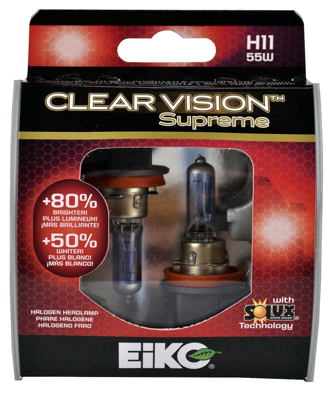 2 pk EiKO H1155CVSU2  H1155 Clear Vision PRO Halogen Bulb