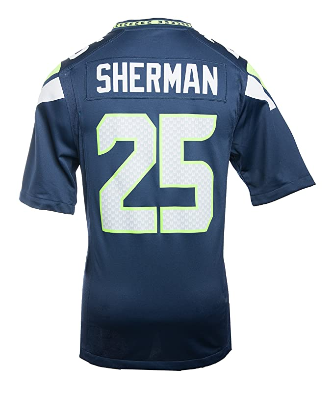Amazon.com   Nike Men s NFL Seattle Seahawks Richard Sherman Jersey ... d9d0fe64e
