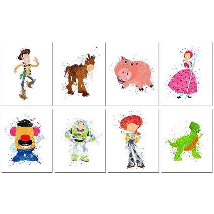 Amazon.com: Toy Story Watercolor Prints - Set of Eight 8x10 Photos ...