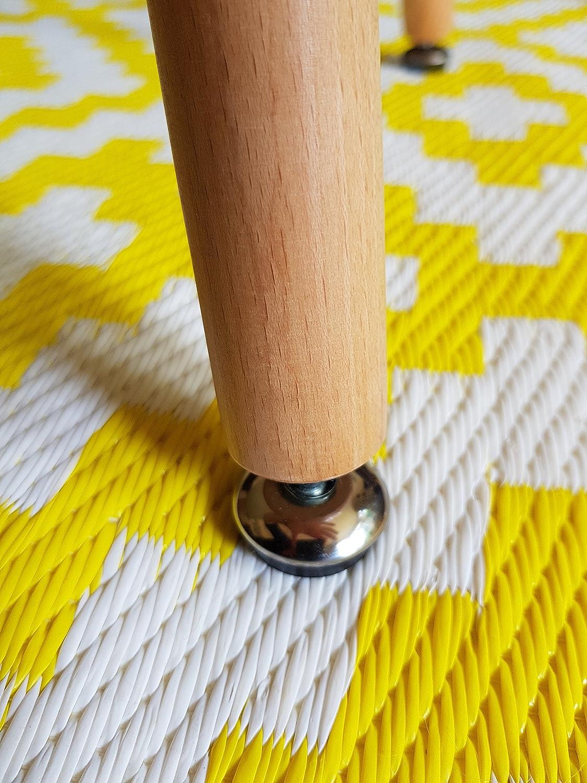 Snug Furniture Tavolino da caff/è Rettangolare Scandi Retro Scandi in Bianco con Gambe in faggio