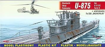 Mirage Hobby 40043 U-875 Type IX U-Turm II - Submarino ...