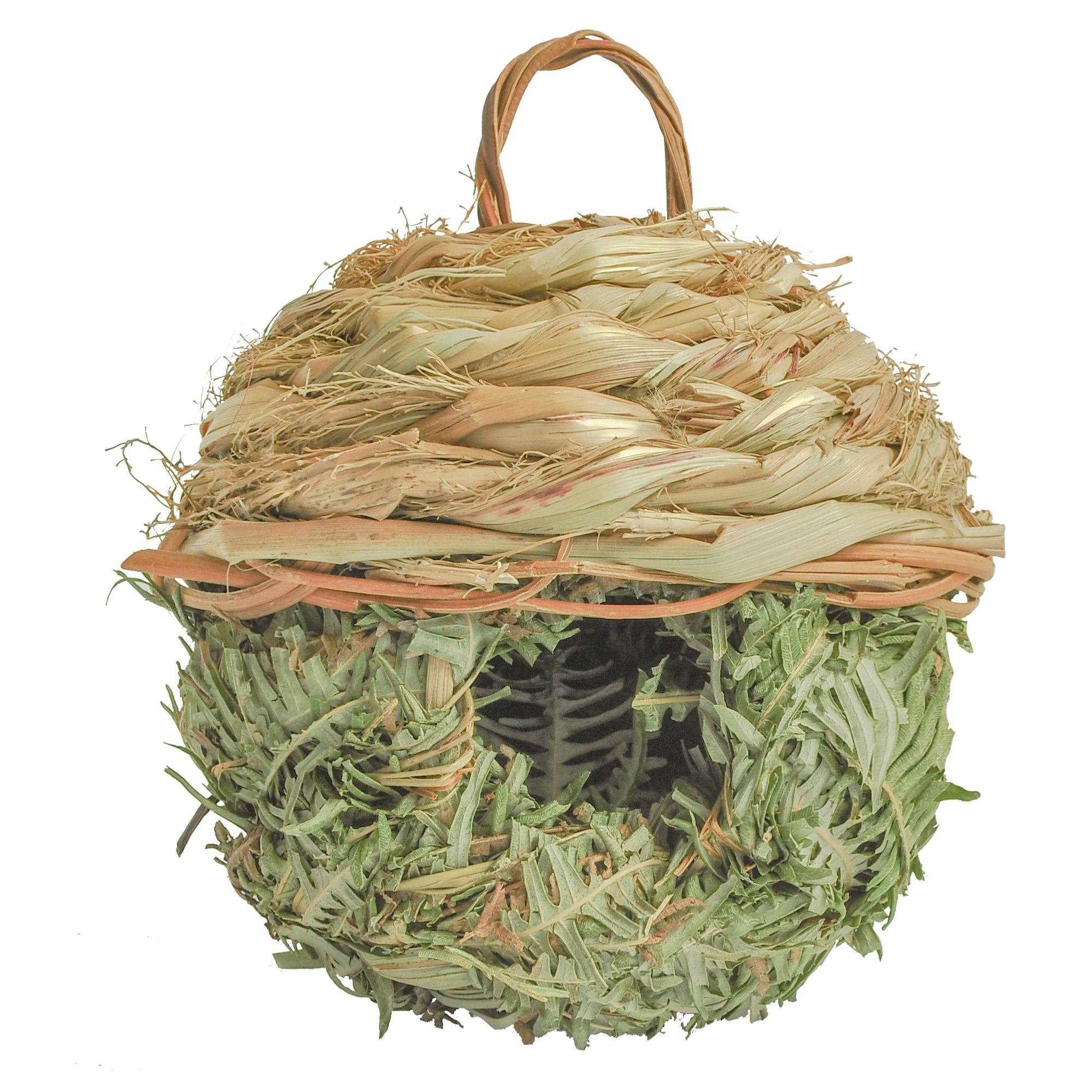 Gardirect Natural Birdhouse, Wild Bird Nest, Reed Weave Natural Roosting Pocket