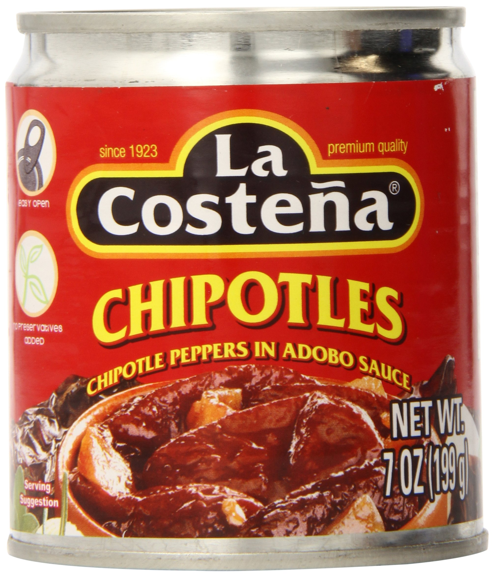 La Costena Chipotle Peppers, 7 Ounce (Pack of 24)