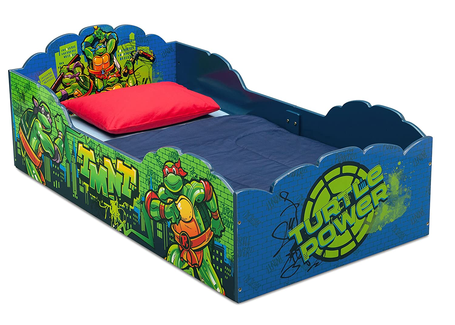 Amazon Delta Children Wood Toddler Bed Nickelodeon Teenage Mutant Ninja Turtles Baby