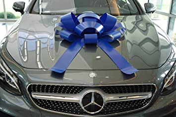 Big Blue Auto >> Carbowz Big Blue Car Bow Giant 30 Bow Non Scratch Magnet