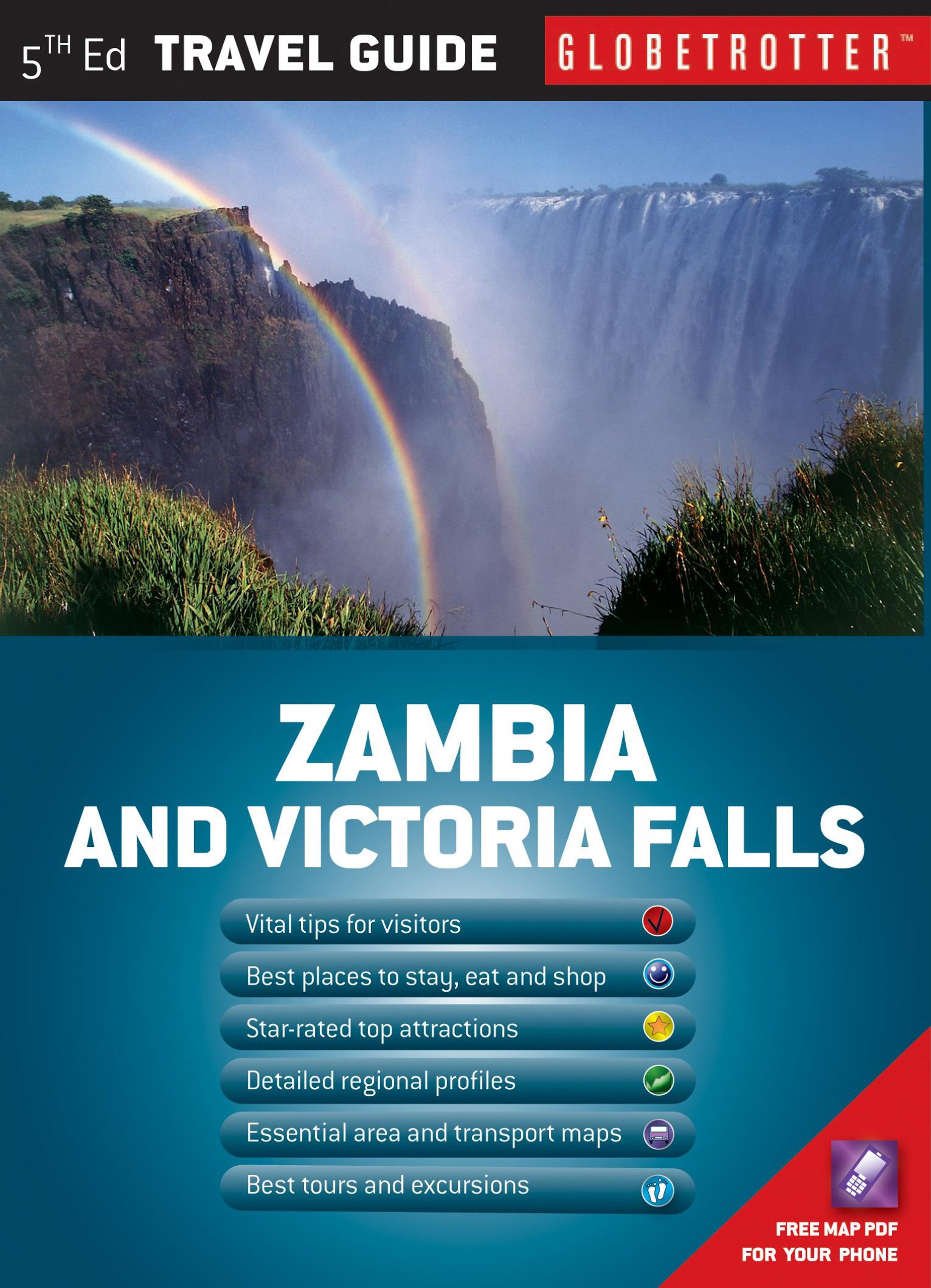 Zambia and Victoria Falls Travel Pack, 5th (Globetrotter Travel Packs)