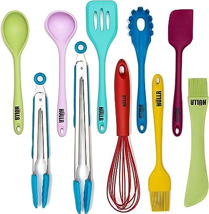 Hullr 10 Piece Silicone Kitchen Utensils Cooking Tool Set Amazon Co Uk Kitchen Home